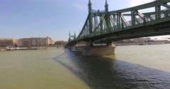 Danube river and the chain bridge Stock Footage