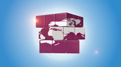 Red Globe Shaped Intelligence Cube Stock Footage