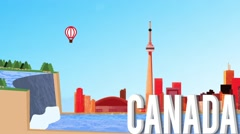 Canada Map Graphic Stock Footage