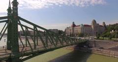 Chain bridge over the Danube Stock Footage