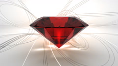 Precious ruby on classy background animation Stock Footage