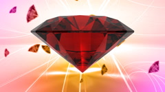 Precious luxury symbol gem with classy background Stock Footage