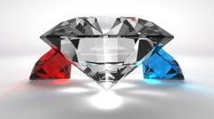 Precious diamonds on classy background animation Stock Footage