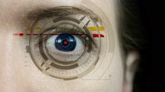 Futuristic Female Cyborg Stock Footage