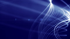 Shiny 3d lines slowly moving on abstract background Stock Footage