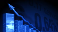 3d bar charts and financial figures Stock Footage