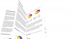 Business report animation with financial graphics Stock Footage