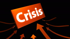 Arrows indicating crisis symbol. Luma channel included. Stock Footage