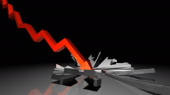 Stock market crash animation. Financial crisis. Stock Footage