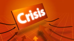 Arrows indicating crisis symbol. Stock Footage