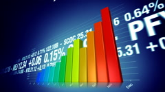 Stock market success animation with bar chart Stock Footage