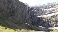 The Gavarnie Falls is 422 meters waterfall in France Stock Footage