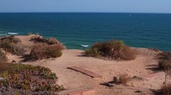 Falesia beach landscape - Albufeira ALGARVE 120 fps Stock Footage