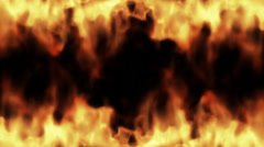 Abstract flames appearing Stock Footage