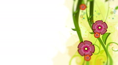 Colorful flower ornament background animation Stock Footage