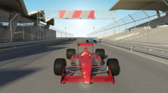 Racing formula one sport cars Stock Footage