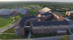 Campus Dorm and Track Stock Footage