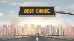 Best Choice Traffic Sign Stock Footage