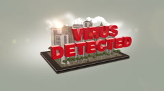 Virus Detected In City Stock Footage