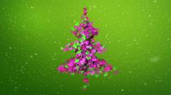 Christmas tree ornament animation Stock Footage