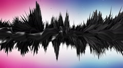 3d bizarre abstract shape background animation Stock Footage