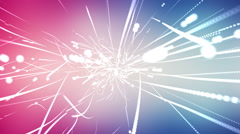 Abstract particle shapes background animation Stock Footage