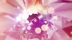 Music record with shiny particles Stock Footage