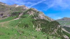 Cirque de Gavarnie - the glacial cirque in Pyrenees Stock Footage
