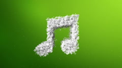 Musical note symbol animation Stock Footage