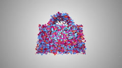 Shopping bag symbol particle animation Stock Footage