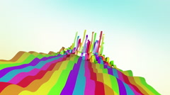 Colorful Ribbons Flowing In Space Stock Footage