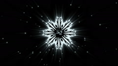 Hand drawn snowflakes with snow. Snowflakes background. Stock Footage