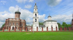 Volokolamsk kremlin located on place of ancient hillfort Stock Footage