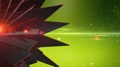 Spinning Abstract 3D Shape In Empty Space With Particles Stock Footage