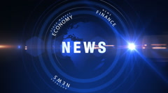 Blue News Promo Animation Stock Footage