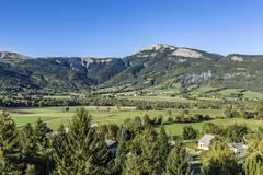 Seyne les Alpes in the french Region provence des haut alpes Stock Photos