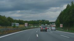 Autobahn near Phorzheim Stock Footage