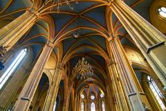 Gothic Cathedral Interior Architecture Stock Photos