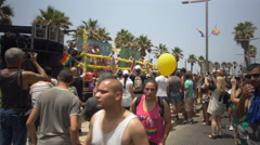 ISRAEL, TEL AVIV - 3 JUN 2016: the celebrate the annual gay pride parade in Tel Stock Footage