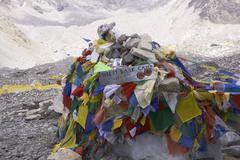 HIMALAYA MOUNTAINS, NEPAL - MAY 16: Everest Base Camp Stock Photos