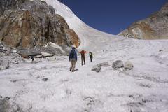 Himalaya Mountains, Nepal - May 18, 2010: Trekking in the Himalayas Kuvituskuvat