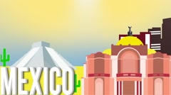 Mexico Map Graphic Stock Footage