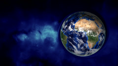 Orbiting earth in empty space Stock Footage