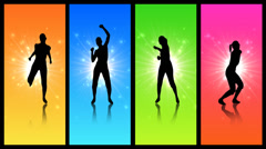 Colorful workout program Stock Footage