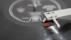 Vintage Turntable Playing Record Stock Footage