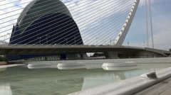 Valencia, The Agora, City of Arts and Science, Spain Stock Footage