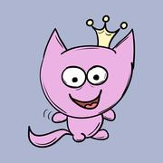 Funny cats. Suitable for childrens stories and fairy tales. Vector Stock Illustration