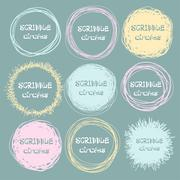 Set of bright hand-drawn scribble circles for your design. Vector Stock Illustration