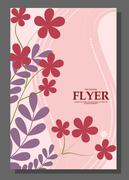Flyers with abstract leaves and flowers on a beautiful background. It can be  Stock Illustration