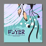 Unique flyer with Dreamcatcher on the background. For guard. It can be used a Stock Illustration
